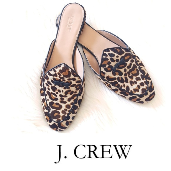 super quality 100% high quality undefeated x J. Crew Shoes | J Crew Leopard Print Loafer Mules | Poshmark